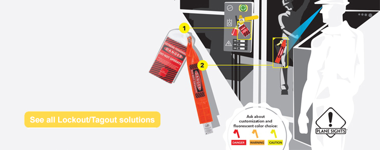 Plane Sights Lockout/Tagout System improves industrial lockout compliance oversight and prevents the needless cutting of locks.