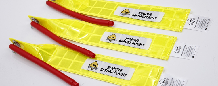 Static wick cover sets to securely fit rigid static wicks of any turbine aircraft.